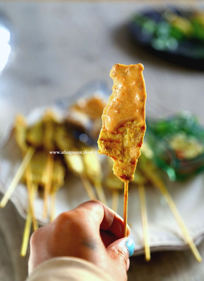 satay pollo thai