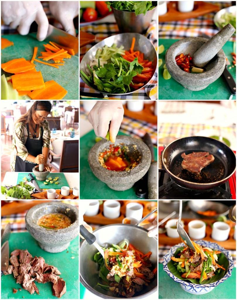 beef salad step