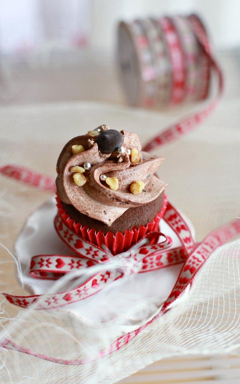 cupcake cacao e frutta secca