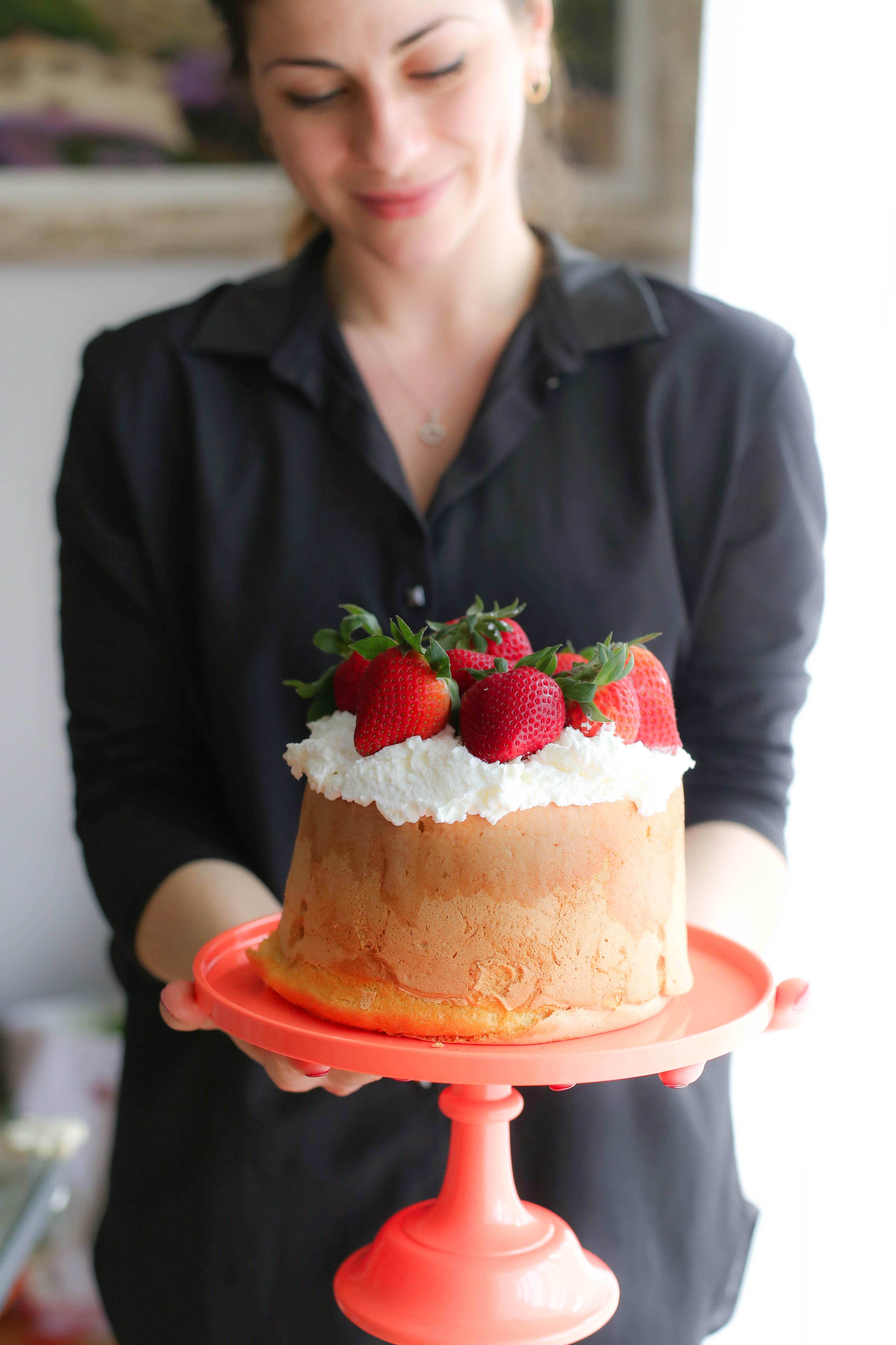 torta con panna e fragole-4