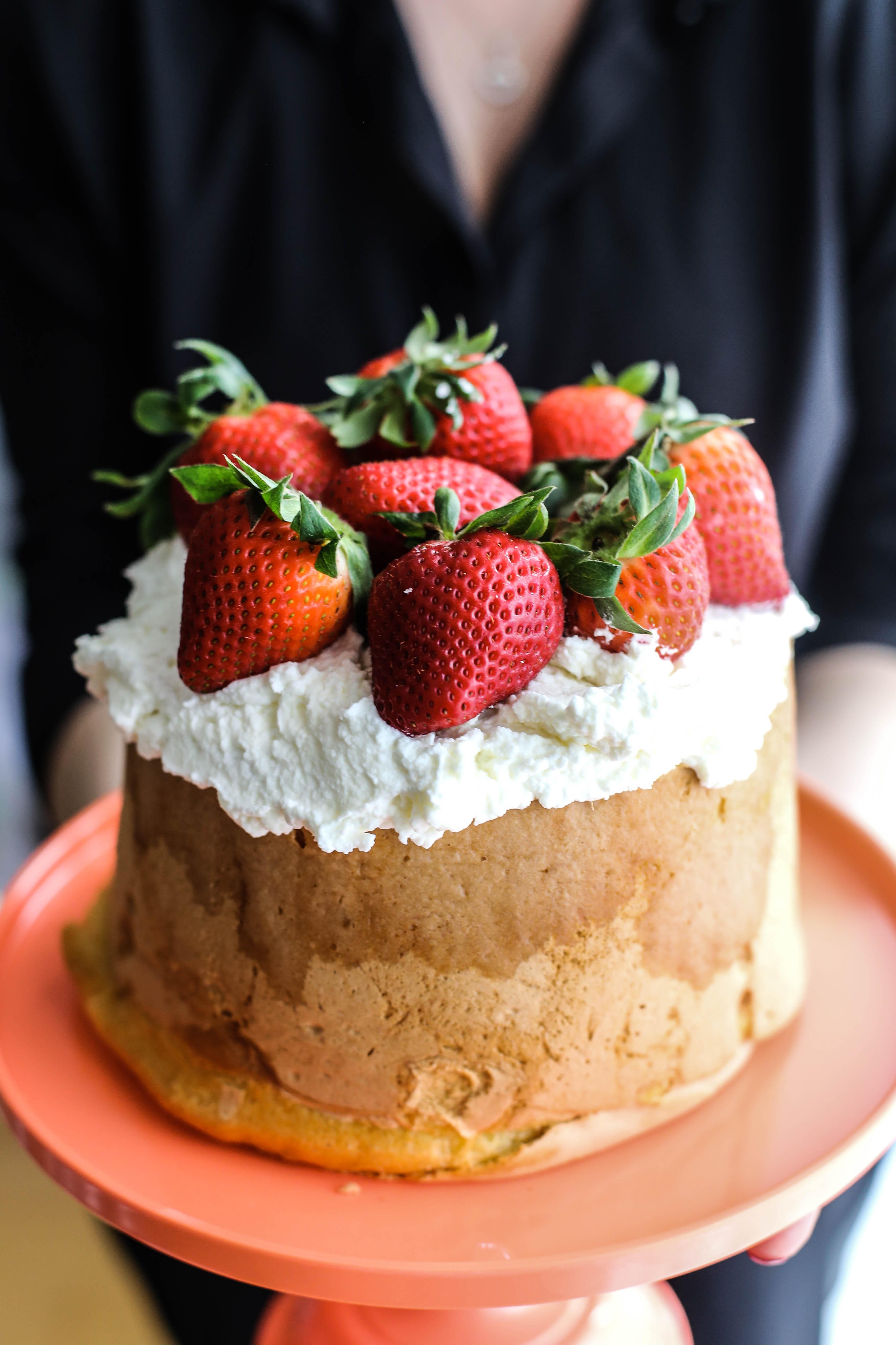 torta pan di spagna fragola