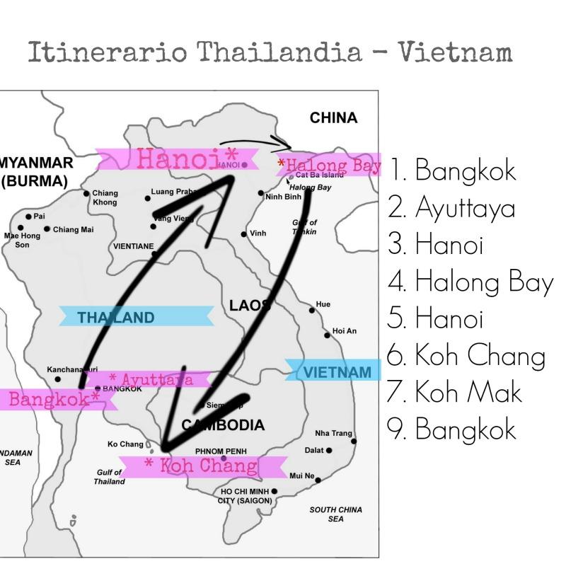 itinerario thailandia vietnam