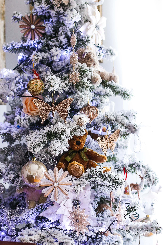 Albero Natale Decorato Rosso come decorare un albero di natale bianco e elegante | a thai